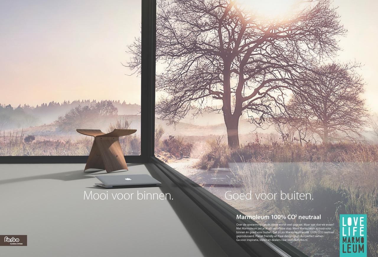 Laatste Campagne Van Marmoleum Schurkt Dicht Tegen Fans Aan.